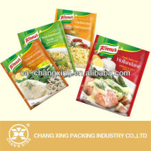 Aluminum foil high-temperature cooking bag/High barrier retort pouch for packing meat rice products