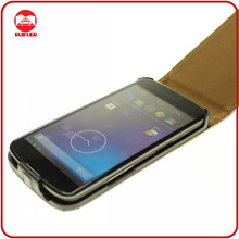 High Quality Genuine Real Leather Flip Case for LG Google Nexus 4 E960