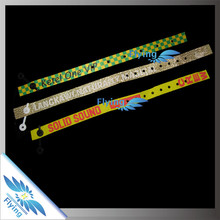 Great Quality Custom Woven Bracelet Wristbands with Customized Clasp