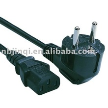 European vde approved power cord with female plug