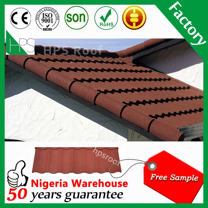 Color stone coated metal terracotta roof tiles Philippines best prices
