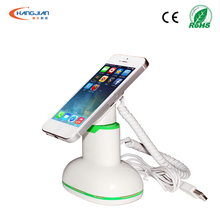 smart anti lost security alarm system with charging for cell phone mobile phone display stand