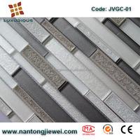 Alibaba Nantongjiewei Cracked Ice Interlock design ceramic mosaic glass tile for wall and floor