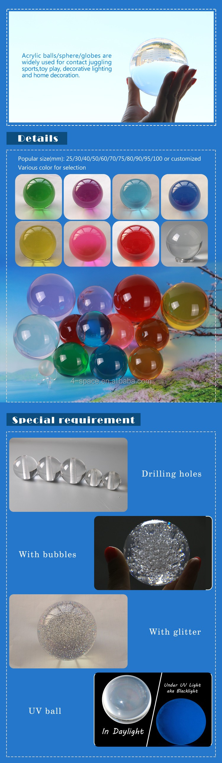customized 90mm Ultra Clear Acrylic Ball, Acrylic Ball Crystal Clear Acrylic Contact Balls for contact juggling sports