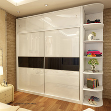OEM orders acceptable double slide doors modern bedroom wall wardrobe design