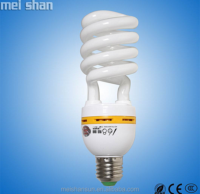 45w 5 years long life middle half spiral shape light parts