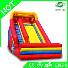 2015 Popular sale outdoor hippo inflatable water slide, inflatable water rentals, funny inflatable one lines slide