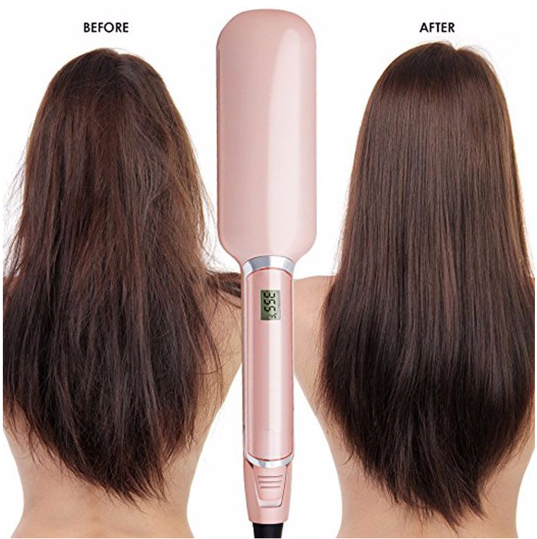 Wholesale steam hair straighter ceramic custom flat irons with private label hair straightening