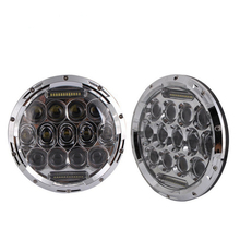 "Round Hi/low Beam 75w 7 Inch Led Headlight 7"" Round LED head light lamp with white DRL for Halley Motorcycle for Jeeep Wrangler"
