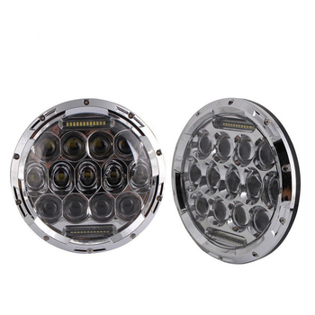 "Round Hi/low Beam 75w 7 Inch Led Headlight 7"" Round LED head light lamp with white DRL for Car Motorcycle Truck UTV ATV"