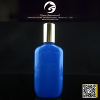 100ml blue for men perfume bottle with screw gold cap