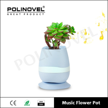 NEW ABS Plastic Vase Smart Touch Bluetooth Music Flowerpot