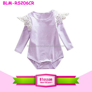 1ca7d22c662 Toddler Girls Onesie Baby Children Bulk Boutique Infant Newborn Girl  Rompers Wholesale Lace Wing Flutter Sleeve
