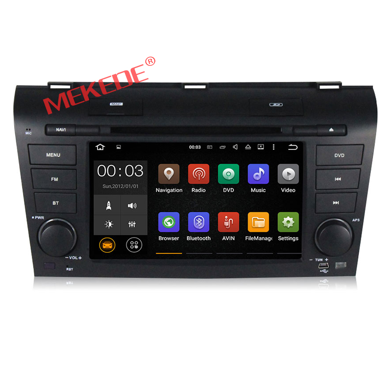 Factory price HD 1024*600 Android 7.1 2-Din Car DVD Player GPS Navigator for MAZDA 3 2004-2008 with DVD audio 4G WIFI BT
