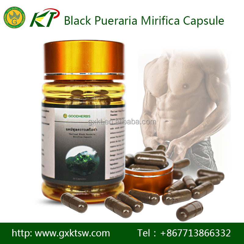 Low price Thailand black pueraria mirifica strong man power plus capsules