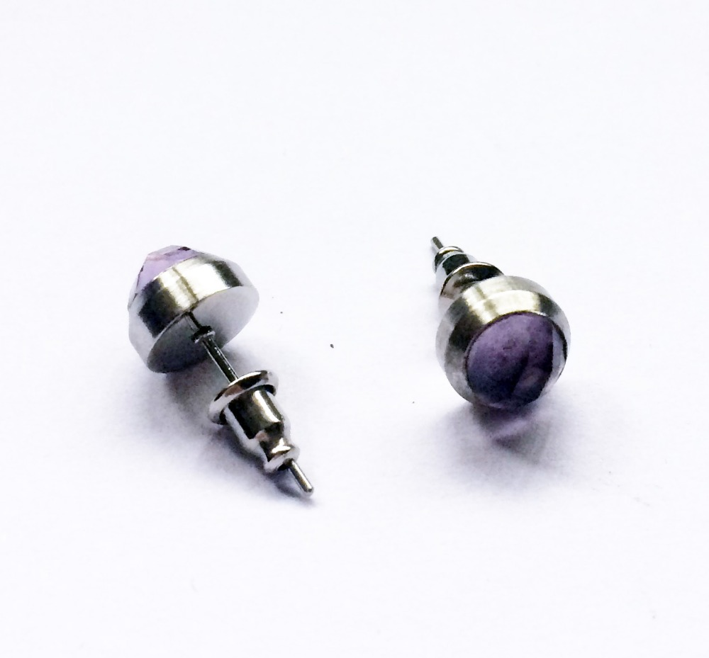 hot sale stainless steel diamond earring <strong>jewelry</strong> in free shipping