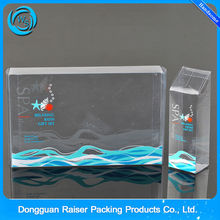 hot seal customized perfume box clear pvc box for cosmetic packing