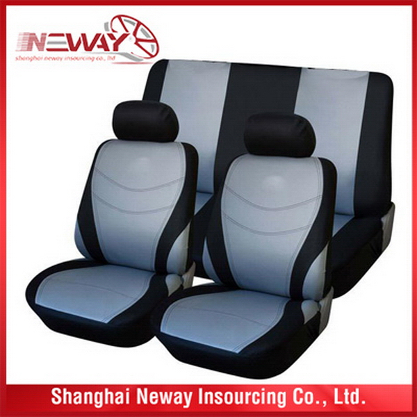 New product trade assurance beige pvc leather car seat covers