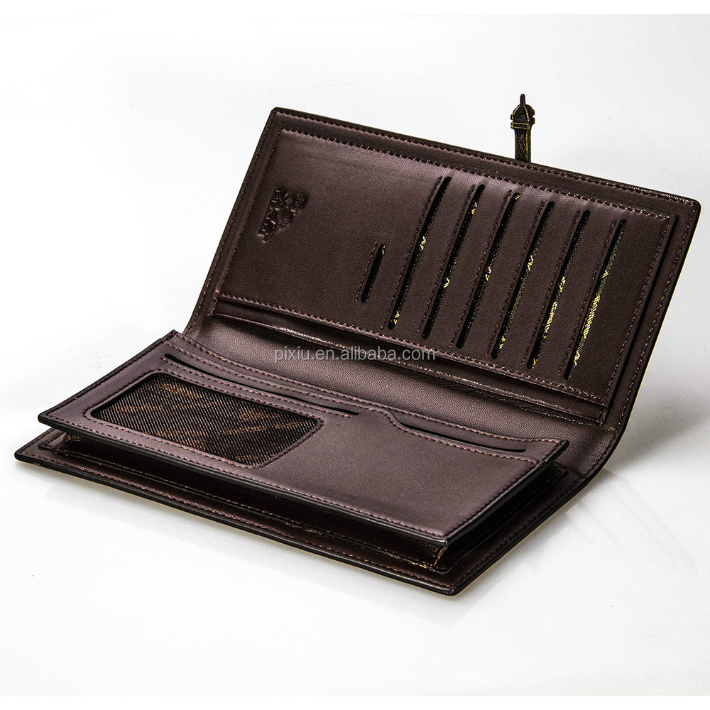 Exquisite Handmade Craft Brand Leather Men's Long Wallets in Low Price