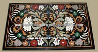 Antique Marble Inlay Table Top Pietra Dura Marble Table Top