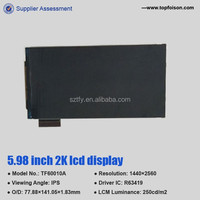 6 inch 2k 1440P LCD LCM screen 100% new with preferential price for HMD