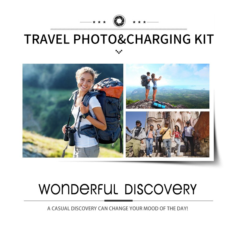 2017 New products travel mobile phone camera lens kit with power bank