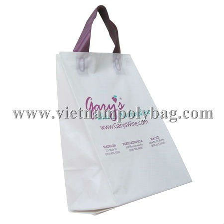 Wine shop soft loop plastic bag