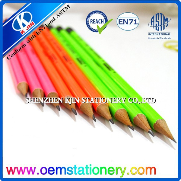 "7"" glitter color pencils with eraser for school and office"