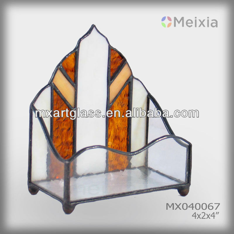 Mx040080 Tiffany Stained Glass Business Card Holder Wholesale - Buy ...