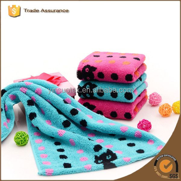 Colourful dots in red or blue Face Towels with black cats lovely