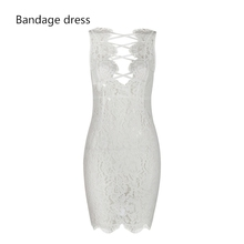 Sexy lace deep v-neck cross halter women wedding dress