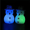 EVA crystal color changing snowman night light