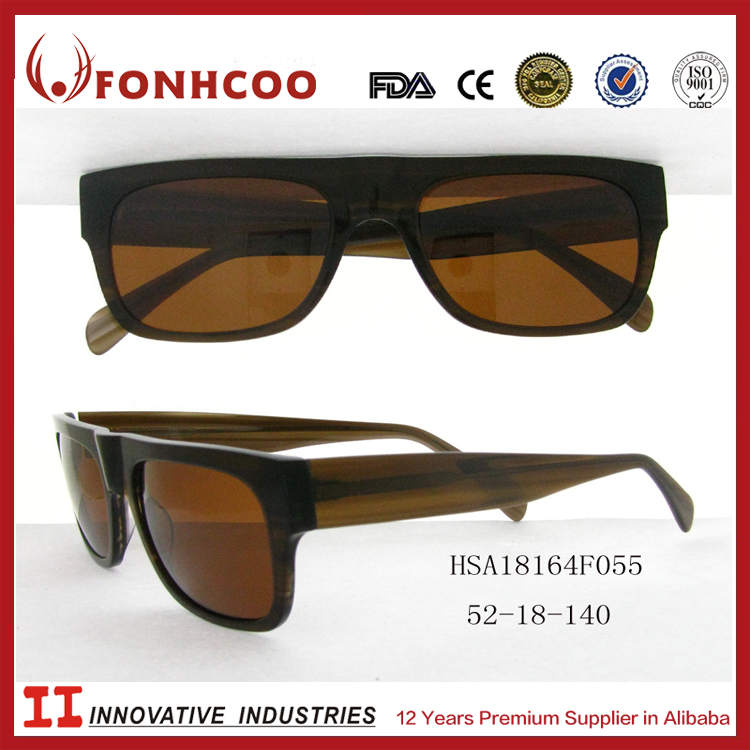 FONHCOO Brand Japanese Design Mens Custom-Made Acetate Motorcycle Sunglasses