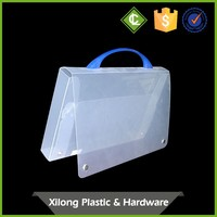 fashion fancy design with custom sizes plastic storage boxes for files