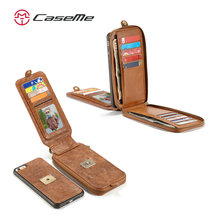 CASEME Luxury PU Leather case For iphone 6s plus, Case for iphone 6s 4.7,Back case For iphone 7 Plus Mobile Phone cases Cover