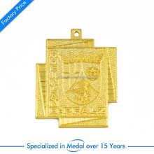 Custom unique irregular shaped iron stamped gold coating rheinland pfalz crown cross medals
