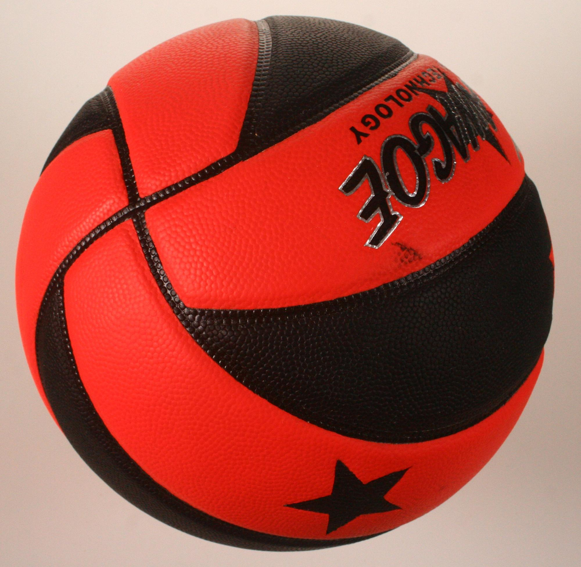 leather look rubber foam basketball for India market
