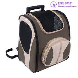 Wholesale Cat Carrier Backpack Travel Pet Carrier On Wheels For Dog And Cat