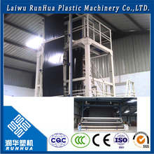Programmable plastic film blow mould machine for multilayer blown film
