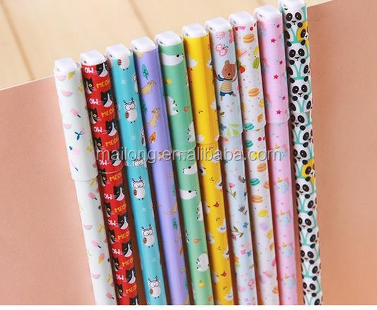Japan and South Korea stationery new animal diary 10 color neutral students felt-tip pens color pens PN5378