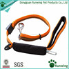 Dog Leash with Car Seat Belt Nylon Strap with Padded Silk Handle Adjustable Multi Use Hand Leash Free Waste Bag Dispenser