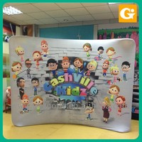 Pop Up Display Stands For Tiles Amusement Park Use Visions banner