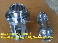 Stainless steel food grade Sanitary customize height round tube sight glass