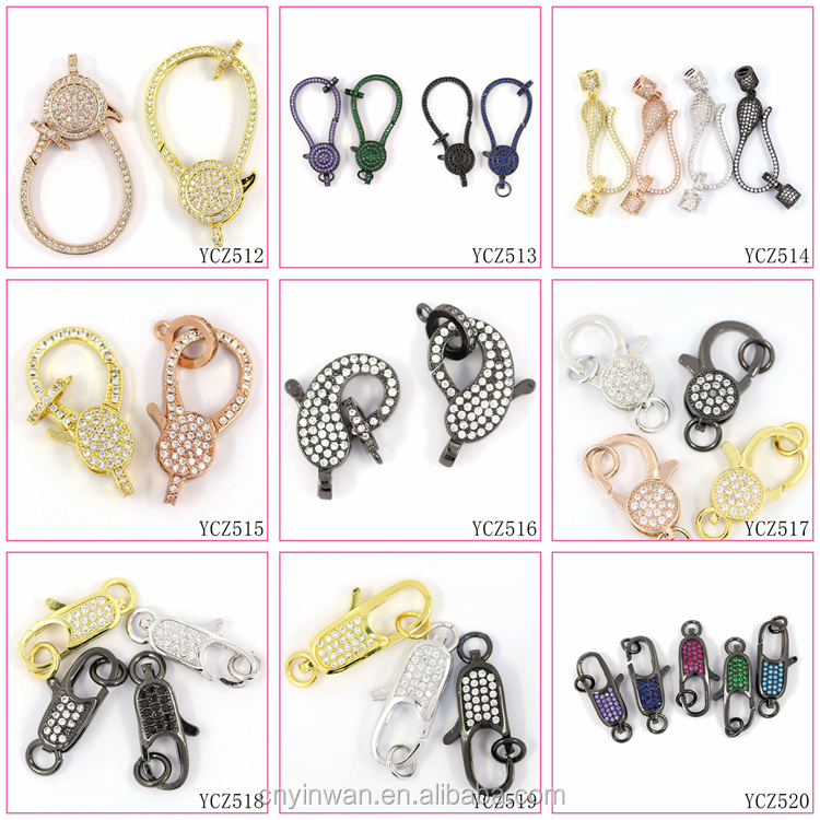 YCZ499 Good quality Colorful micro cubic zirconia charms jewelry accessories for women pendant