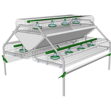 Durable metal rabbit breeding cages for animal farm equipment