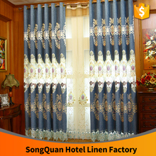 2016 NEW FANCY Chenille embroidery hollow high quality window curtain