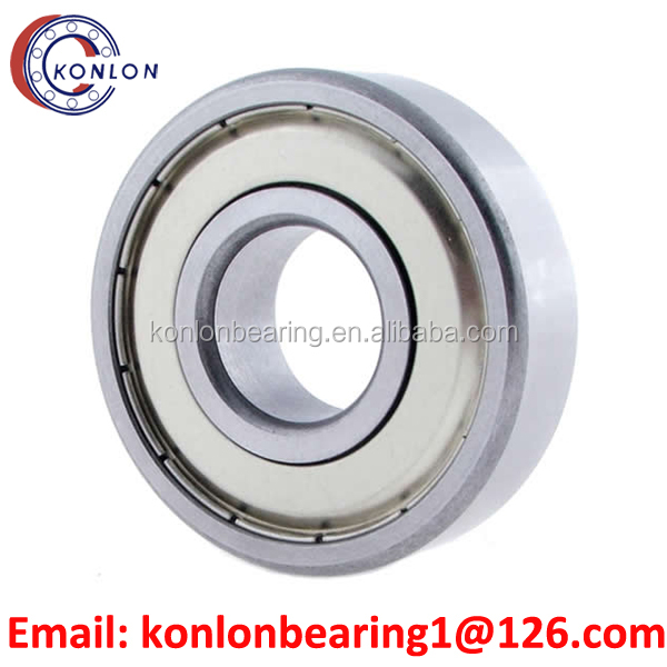 6011 2RS ZZ bearing Deep Groove Ball Bearing, Single Row, Pressed Steel Cage, Normal Clearance, Metric