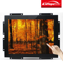 Metal case embedded lcd 15 inch frameless touch screen monitor