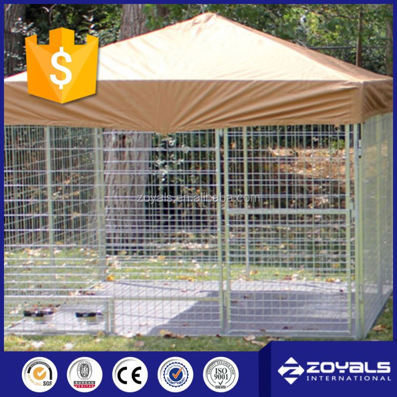 Chain link dog cage kennel