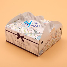 Food packaging carton/birthday cake box window paper box folding cartons